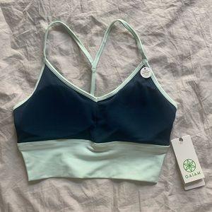 GAIAM light support color block sports bra